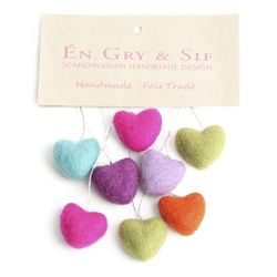 Mini Colorful Hearts in a bag of 8 pcs
