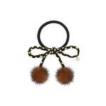 Lesley dot mink hair string brown