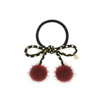 Lesley dot mink hair string red