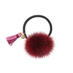 Bonnie tassel mink hair string burgundy