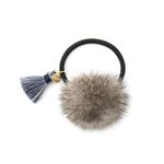 Bonnie tassel mink hair string gray