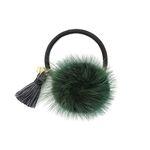 Bonnie tassel mink hair string green