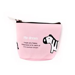 My dream 핑크얼룩말 파우치
