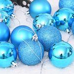 믹스볼장식세트 16입 (블루) - 6cm