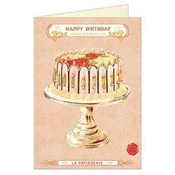 Cavallini 생일카드 빈티지 케이크