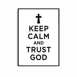 킵캄 북유럽풍 포스터액자 GOD [중형]