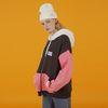 Coloring hoodie zipup-dark gray-pink(노기모)