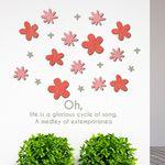 우드스티커- 작은꽃 (컬러완제) 플라워 W512 데코입체
