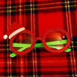 반짝이 산타모자 안경