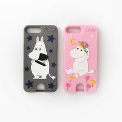 Moomin iPhone 7 PLUS 카드포켓 실리콘 케이스