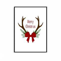 크리스마스액자 북유럽 포스터 사슴뿔 [중형]