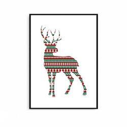크리스마스액자 북유럽 인테리어 사슴 [중형]