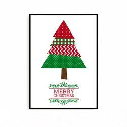 크리스마스액자 북유럽 포스터 트리 [중형]