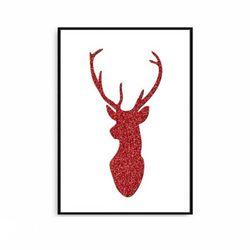 크리스마스액자 북유럽 포스터 사슴 [중형]