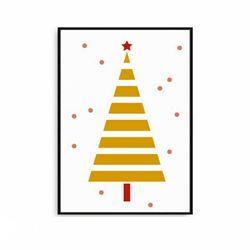 크리스마스 북유럽액자 인테리어 트리 [중형]
