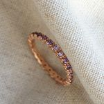오로라 라인 로즈 반지 aurora line rose ring