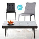지오르라이트-4인용의자set(의자2+벤치)5종색상