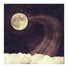 패브릭 포스터 S012 달 Vintage moon sky2 [중형]