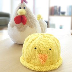 니팅키트- 신생아 삐약이 모자
