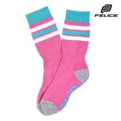 [펠리체] 여성용 양말 프리사이즈 3LINE 핑크