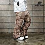 [펠리체] 패딩 팬츠 스크랩 브라운 보드복 남녀공용