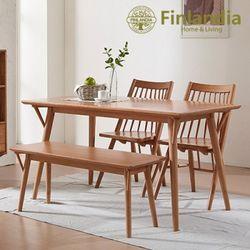 핀란디아 하모니TX 4인식탁세트(의자2벤치1)
