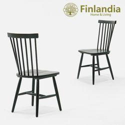 핀란디아 마틴 의자(블랙)2개세트