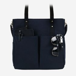 Super Oxford 6 Pocket 3 Way Bag - Vintage Navy