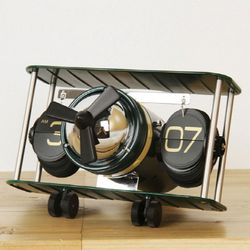 빈티지 전투기 플립 탁상시계