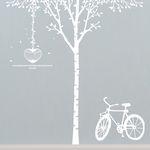 [나무] 자작나무 싱글- 하트새장 & 자전거