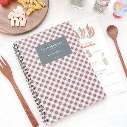 제이로그 맛있는 기록 레시피북-맛있는기록 핑크