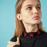 Three Red Star Choker