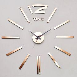 붙이는럭셔리 대형벽시계 인테리어 DIY시계 로즈골드