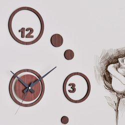 내맘대로 독특한 시계구성 DIY벽시계 우드시트-링