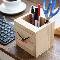 시계를 품은 연필꽂이 DIY가구(시계무브별매)