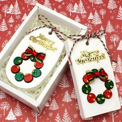 크리스마스 리스 석고방향제 만들기 (6개세트)