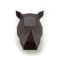 데코폴리 코뿔소 페이퍼헌팅트로피 인테리어소품