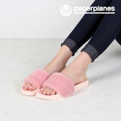 [페이퍼플레인 퍼슬리퍼] PP1422 핑크