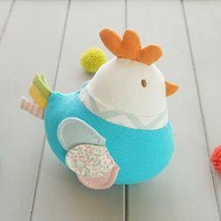 오가닉 닭 애착인형 만들기 태교바느질 DIY