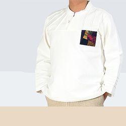 [다흰-남자]오색보 주머니 티셔츠-이중지 면-1color