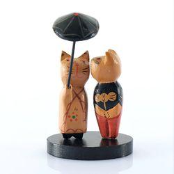인테리어 소품 우산 연인고양이