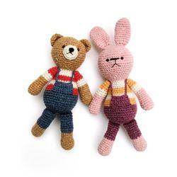 손뜨개인형 DIY-우리는친구-곰-토끼