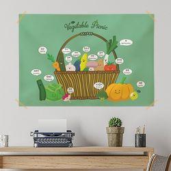 키즈 패브릭 포스터. 교육용 베이비포스터(라지)