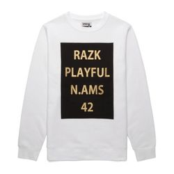 [라지크] RAZK - PLAYFUL CREWNECK (WHITE)