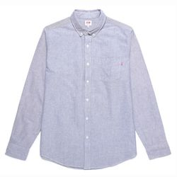 - DISSENT OXFORD WOVEN LS (HEATHER NAVY)