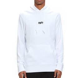 OBEY - 16FW JUMBLE BARS HOOD (WHITE)
