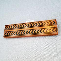 줄무늬 패턴 원목 소품