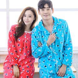 EH 패션퍼피 커플 밍크잠옷