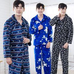 EH 카라 남 밍크잠옷