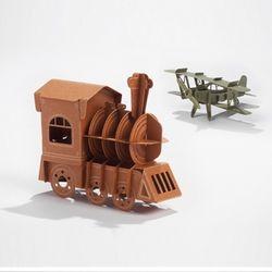 페이퍼로 미니 복엽기 기차